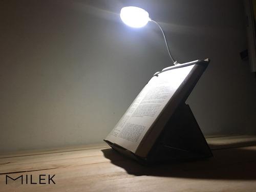 luz led de lectura. atril libros partituras. flexible clip