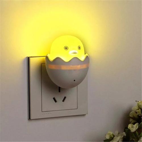 luz led de noche modelo pollito con sensor de luz
