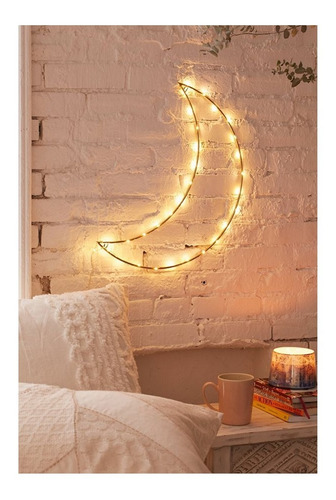 luz led decorativa con forma de luna super oferta