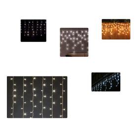 Luz Led Decorativa Luces Navideñas Luces De Navidad Cortina6
