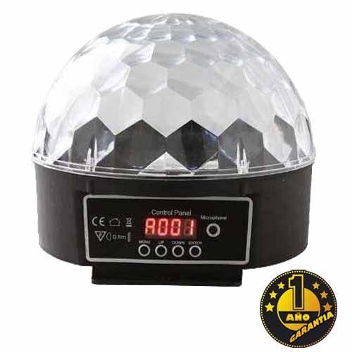 luz led dmx rgb bola dmx crystal magic ball light fiesta dj