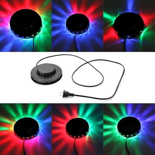 luz led efecto ovni giratorio rgb 48 leds de colores