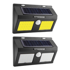 Luz Led Exterior Solar 40 Led 30w Sensor Movimiento Jardin