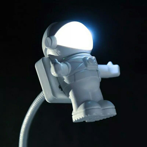 luz led flexible blanca astronauta portatil lampara