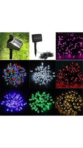 luz led hadas recargable jardín fiesta aire libre 50 leds