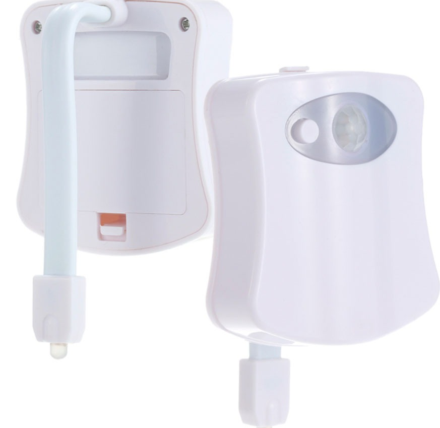 Luz led inodoro decoraci n 8 colores sensor de movimiento - Luz sensor movimiento ...
