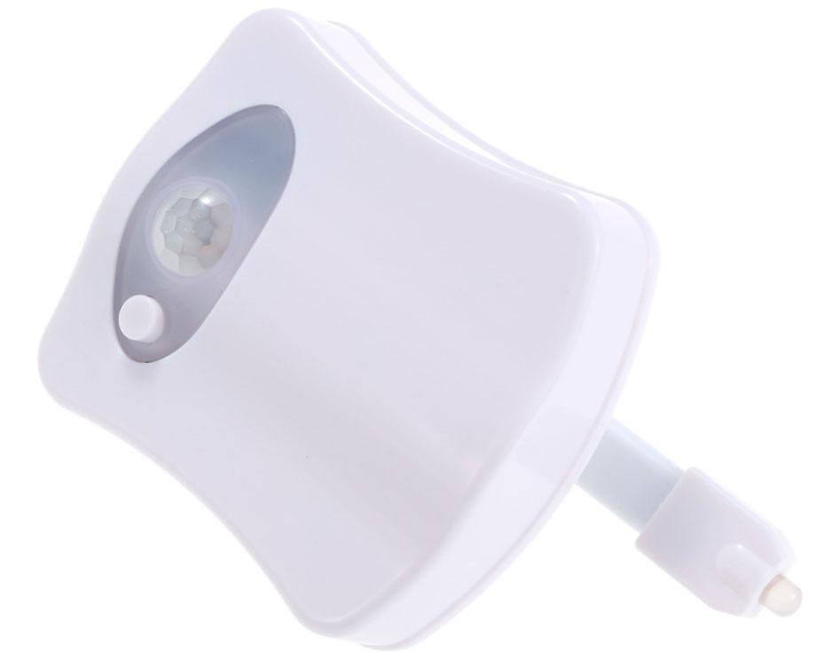 Luz led inodoro decoraci n 8 colores sensor de movimiento - Sensor de movimiento luz ...
