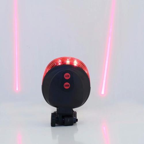 luz led laser para biciletas (rojo)