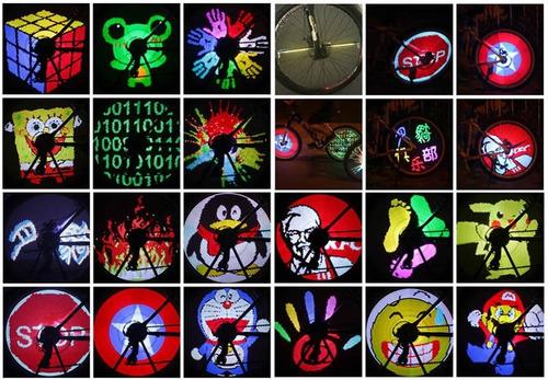 luz led llanta 128 led bicicleta programable