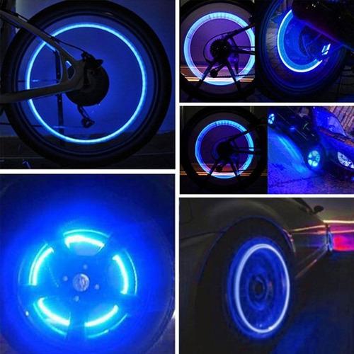luz led neón llantas bicicleta moto carro fireflys x2 rf f15