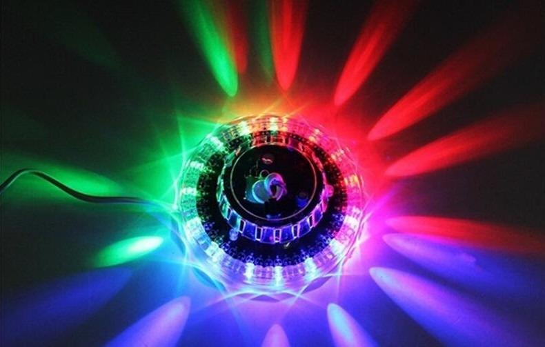 Luz Led Ovni Transp Ef Giratorio Auto Rgb 48 Leds De Colores 279