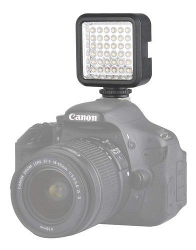 luz led para camaras recargable + cargador