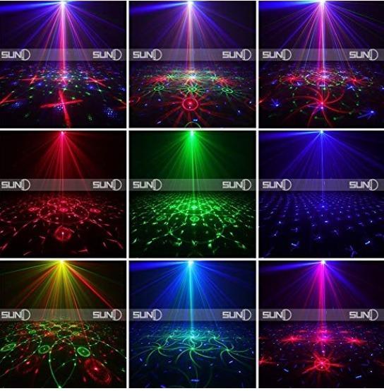 8da3dac035d Luz Led Para Navidad Fiesta Boda Bar 12 Luces Grandes Laser3 ...