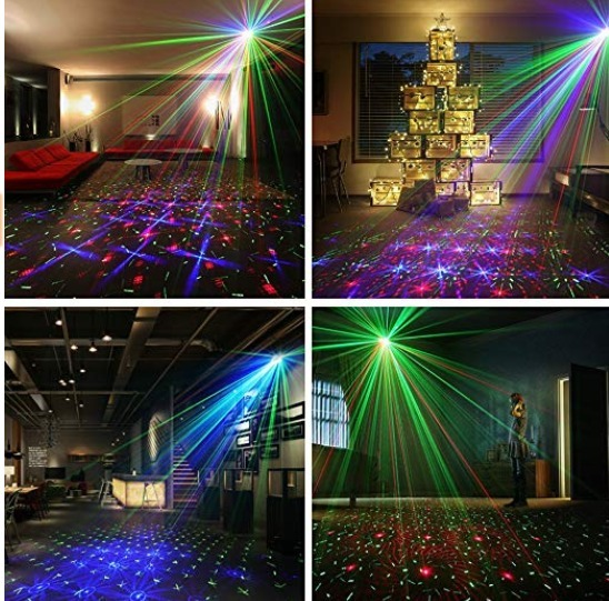 b1f1db12fb2 Luz Led Para Navidad Fiesta Boda Bar 12 Luces Grandes Laser4 ...