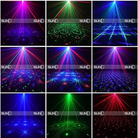 766404f8371 Luz Led Para Navidad Fiesta Boda Bar 12 Luces Grandes Laser5 ...