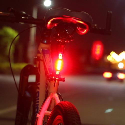 luz led recargable luz roja seguridad ciclismo