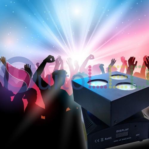luz led robotica 3 focos dmx para bar discoteca-quitoled