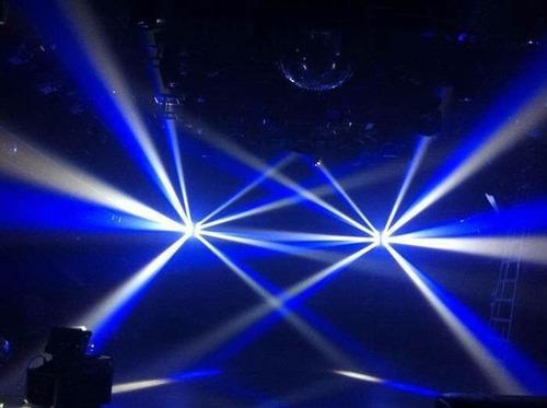 luz led robotica profesional doble spider 4 en 1 dmx disco