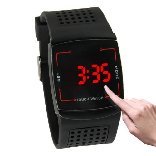 32d474272986 Luz Led Roja Reloj Tacto Pantalla Correa Silicona -   21.000 en ...