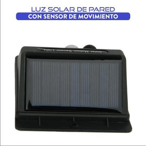 luz led solar con sensor de movimiento