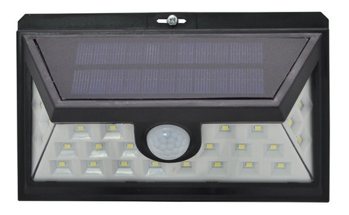 luz led solar exterior jardin patio sensor recargable 24 led