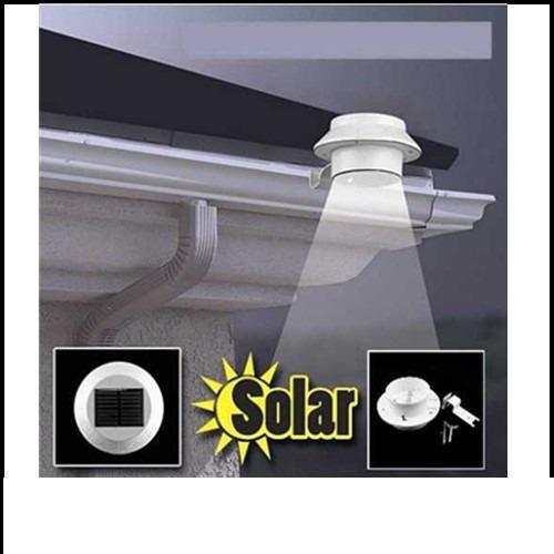 Luz led solar redonda de 3 leds mimall en for Luz de led para exterior