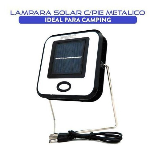 luz led solar superpotente con pie metalico
