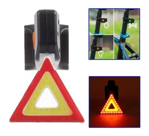 luz led usb precaucion seguridad bicicleta recargable