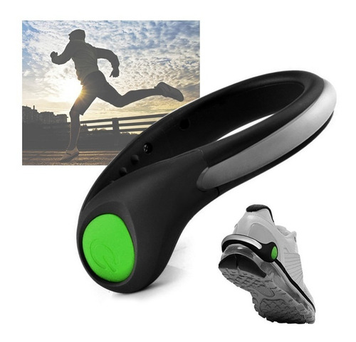 luz led x2 impermeable bicicleta zapatos correr ref jn201