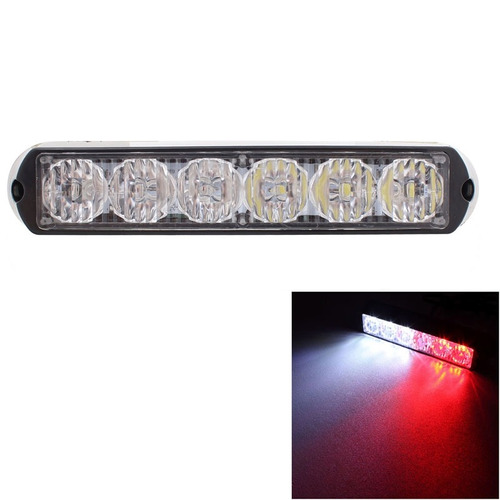 luz linterna advertencia strobe 18w 1080lm 6-led red light