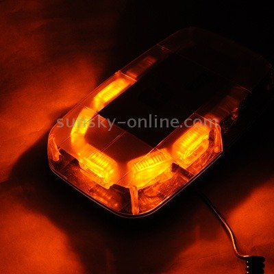 luz linterna advertencia strobe 30w warning mini light bar