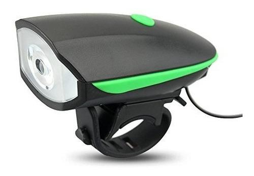 luz linterna blanca con pito bicicleta recargable 250 lumens