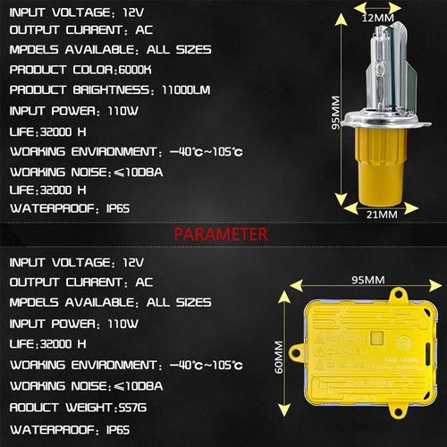 luz linterna xenon conjunto 5 hb ac lm ip prueba agua lam