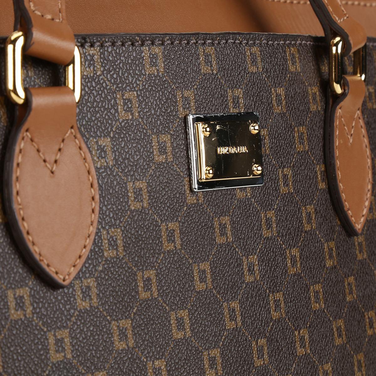 60e41dcbb Bolsa Couro Monograma Luz Da Lua Shopper Estruturada - 1017 - R$ 599 ...