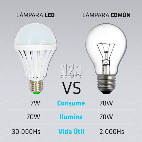luz luces de emergencia lampara 7w 3 horas autonomia n2m
