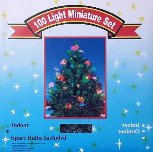 luz luces navidad canica x 100 blanca caja secuenciador