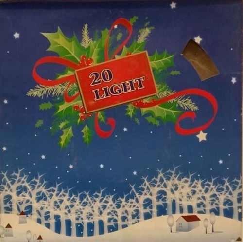 luz luces navidad muñeco de nieve x 20 multicolor caja