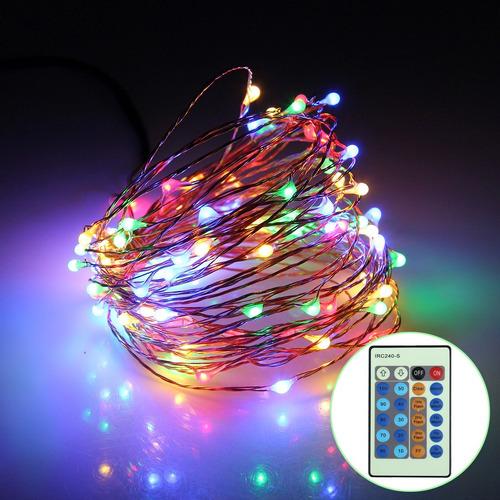 luz navidad 8m 80 led ip65 cobre secuencia festival lampara