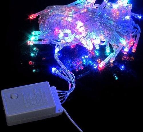 luz navidad led - luz blanca - 16 metros - fiestas - navidad