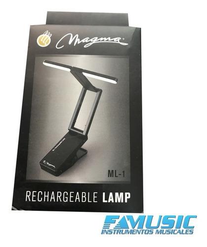 luz para atril recargable con clip magma ml1