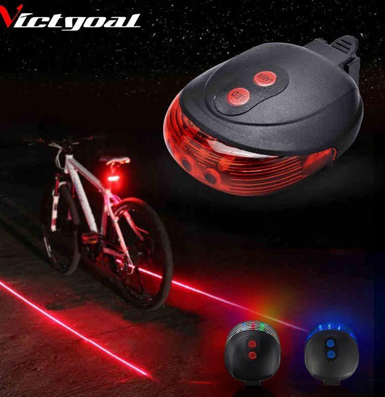 014ae56d6 Luz Para Bicicleta Con 5 Luces Led + 2 Luz Laser - U$S 4,75 en Mercado Libre