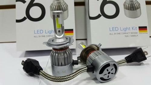luz para faro en led h4 marca c6 auto o camioleta universal
