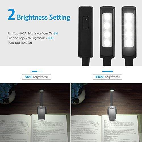 luz para mini libros, 4 luces de lectura, clip de luz flexib