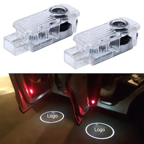 luz para vehiculo puerta 2 pcs led agradable insignia audi