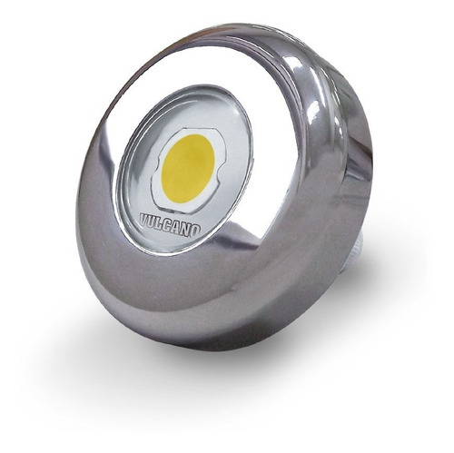 luz pileta led blanca acero inoxidable vulcano 9w + pasamuro