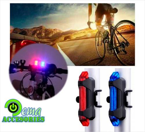 luz policial bicicleta recargable