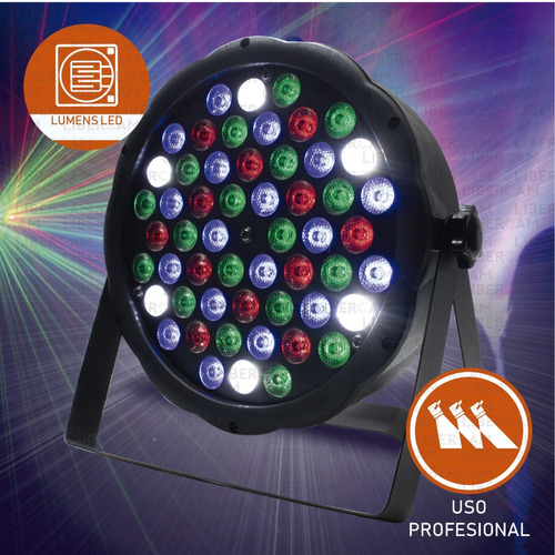 luz proton par 54 led alta luminosidad rgb audioritmico dmx