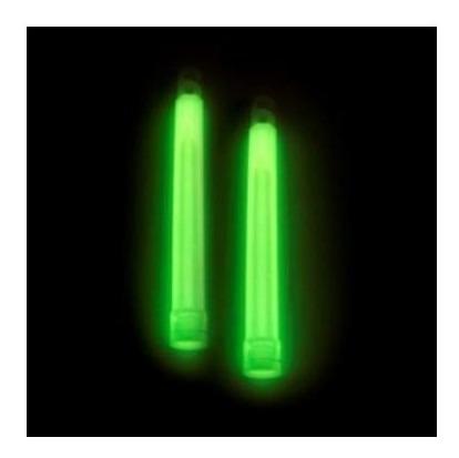 luz química x1 unidad waterdog 15cm ilumina por 10hs