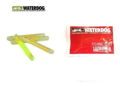 luz química x2 unidad waterdog 4.5 cm ilumina por 30 minutos