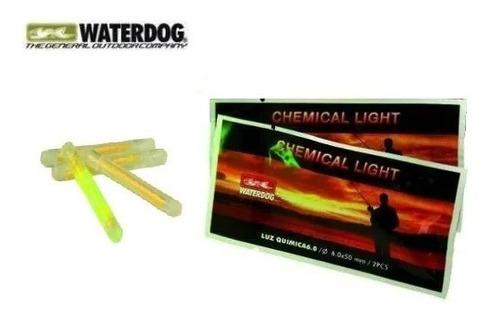luz química x2 unidad waterdog 6 cm ilumina por 45 minutos